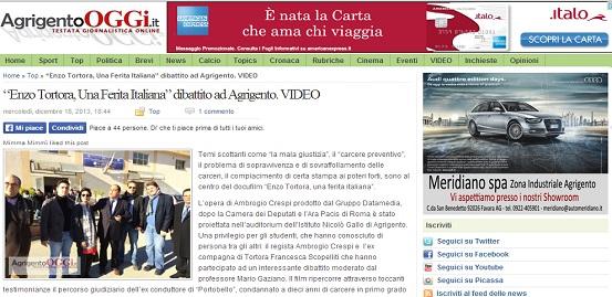 La home page di Agrigento Oggi